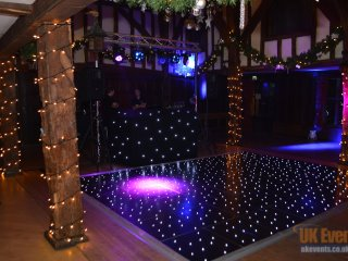 dance floor, dj and twinkling led lights