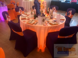 LED light up tables for wedding receptione