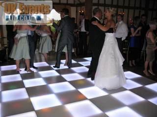 black and white light up dance floor