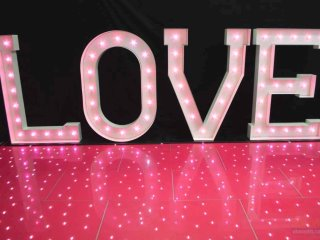 pink lightup love letters