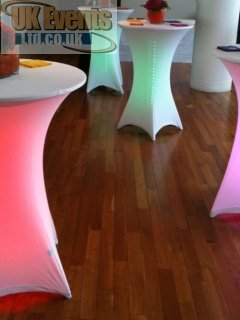 red poseur table