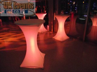 Soft cubes seats and light up tables