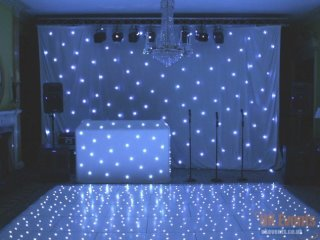 white led star cloth