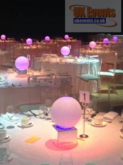 Colour Globe Table Centre