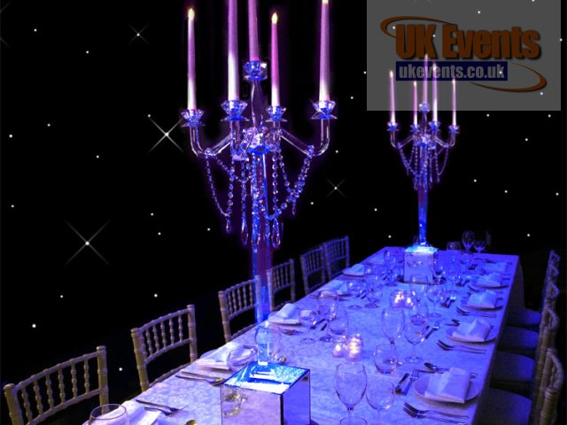 Flamenco Crystal Candelabra Table Centre