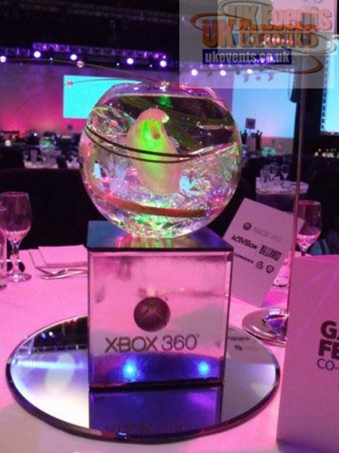 Glass Ball Table Centre