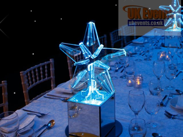 Lit Star Table Centre