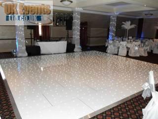 white starlit dance floors for hire