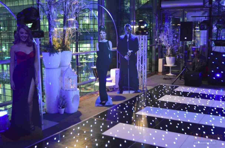 Black or White Starlit LED Dance Floor Hire