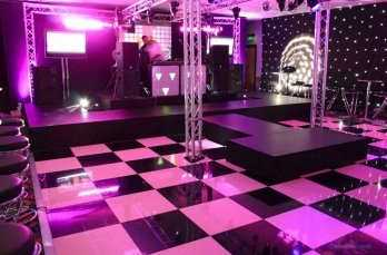 Chequered Dance Floor Hire