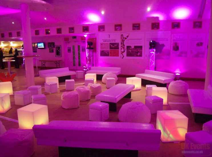 LED Cube / Seating Hire