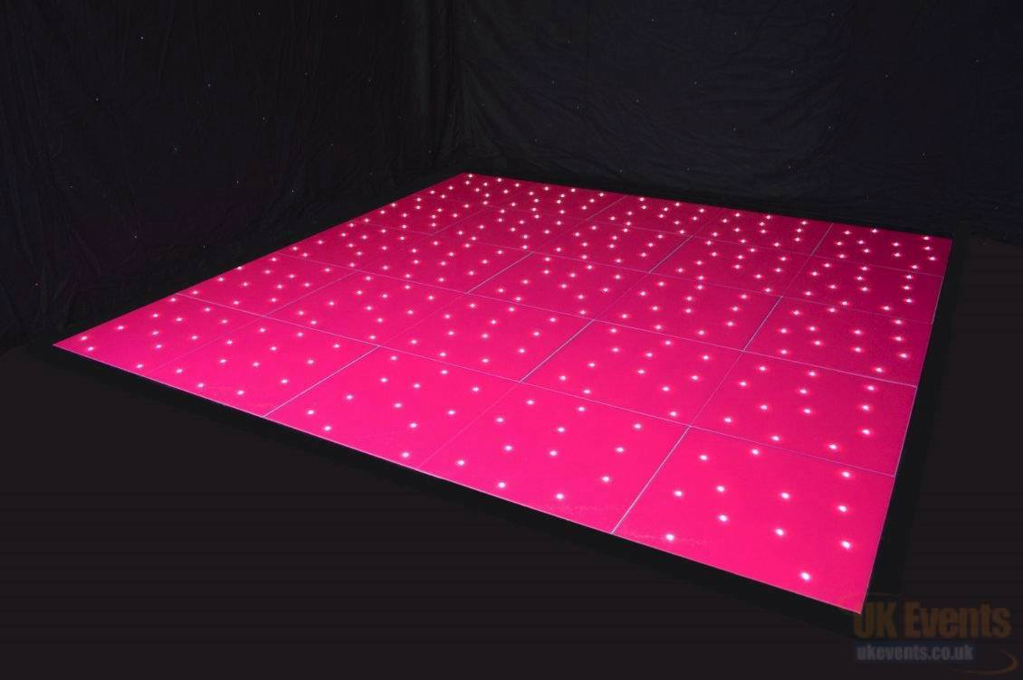 Pink Starlit Dance Floor Hire
