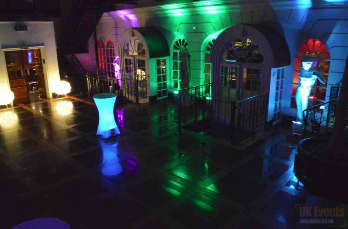 LED Colour Changing Poseur Table Hire