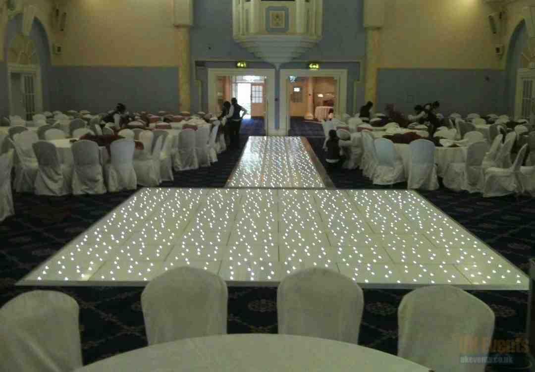 Wedding - White Starlit LED Dance Floor Hire