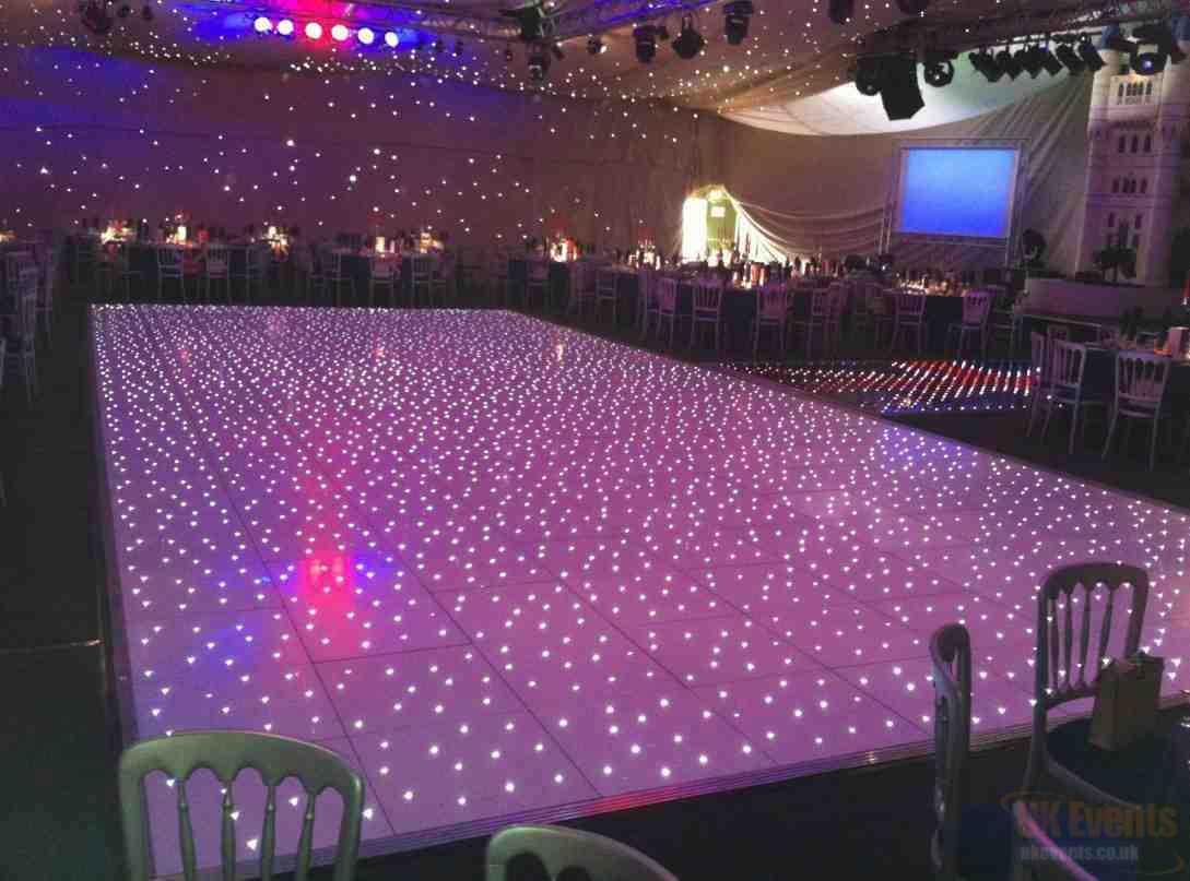 White Starlit Dance Floor Hire