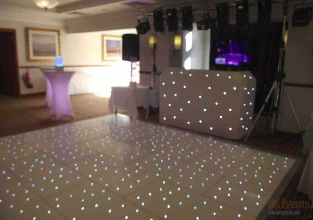 White LED Starlit Dance Floor Hire